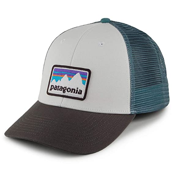 f3b2b67048ab45 Patagonia Shop Sticker Patch LoPro Trucker Hat One Size Fits All Cap -  38182 WHFG (White/Forge Grey): Amazon.co.uk: Clothing