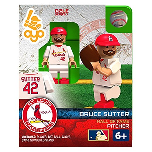 Oyo Sportstoys MLB St.LouisCardinals Bruce Sutter G2S1 Hall of Fame Minifigure, Small, (Fame Mini Bat)