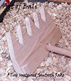 "Art of Bali 36"" 7 Tine Unstained Saw Tooth Zen Garden Rake – Art of Bali Original"