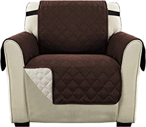 Ultra Soft Reversible Quilted Furniture Protector for Chair Seat Width Up to 21