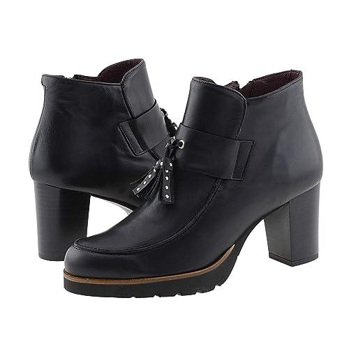Botines tacón Alto Piel Negros con borlas: Amazon.es: Zapatos y complementos
