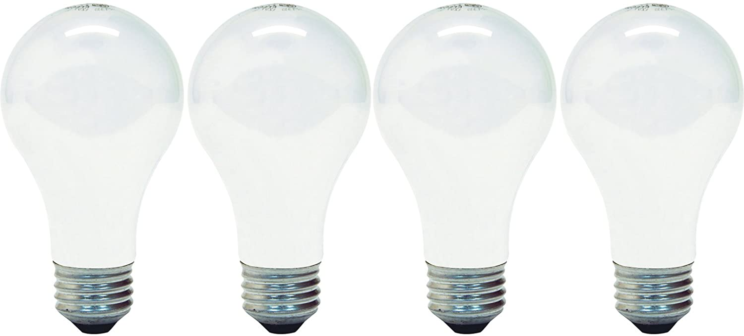 GE Lighting 66247 Soft White 43-Watt, 620-Lumen A19 Light Bulb with Medium Base, 4-Pack