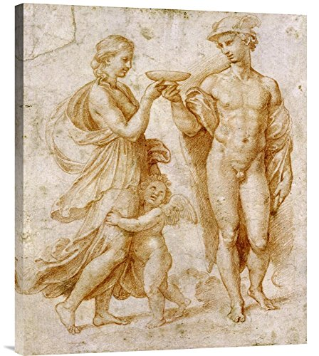 'Mercury Offering the Cup of Immortality to Psyche' by Raphael Painting Print on Wrapped Canvas GCS-265383-30-142