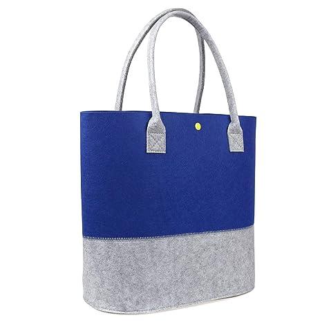 Amazon.com: Bolsa de compras de fieltro, bolsos de hombro ...