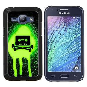 Stuss Case / Funda Carcasa protectora - Verde de neón Casette - Samsung Galaxy J1 J100