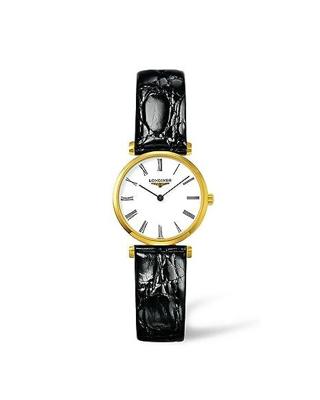 Longines Reloj Analógico para Mujer de Cuarzo con Correa en Cuero L42092112