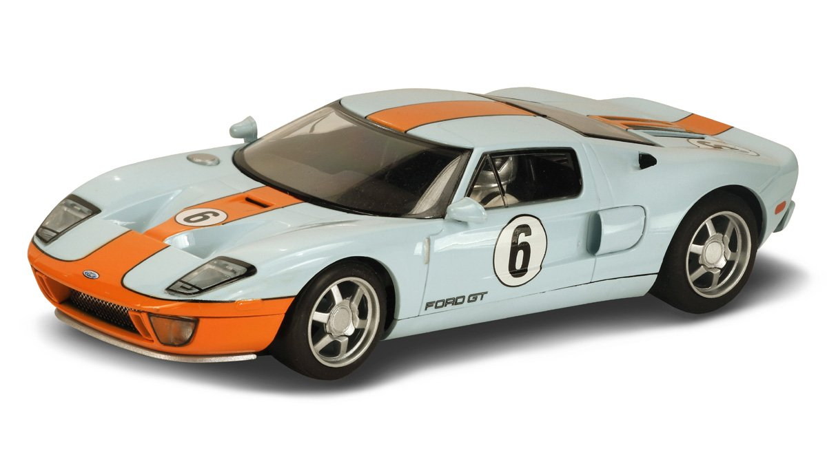 Scalextric C3324 Ford GT Heritage Gulf Livery Vehicle, Scale 1/32