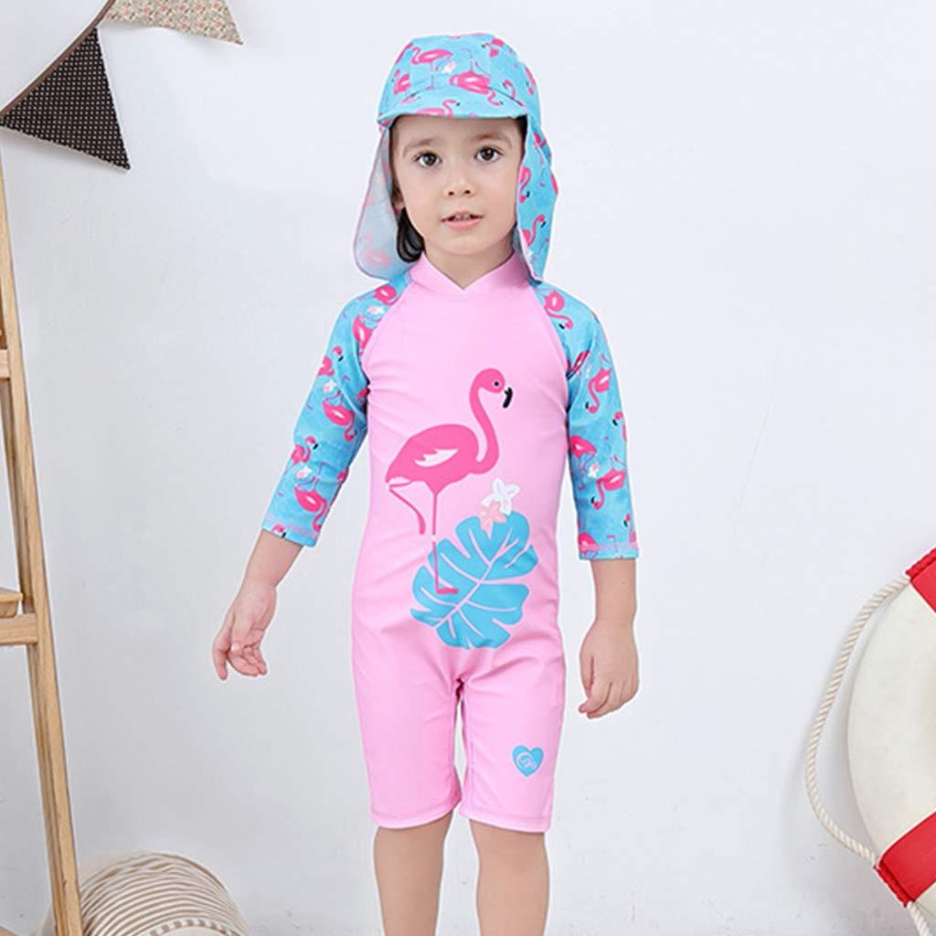 Bambina Costume da Bagno Ragazze Cigno Protezione Solare UV Costumi da Bagno UPF 50 Tuta da Bagno Un Pezzo Surf Tute con Cuffia da Nuoto