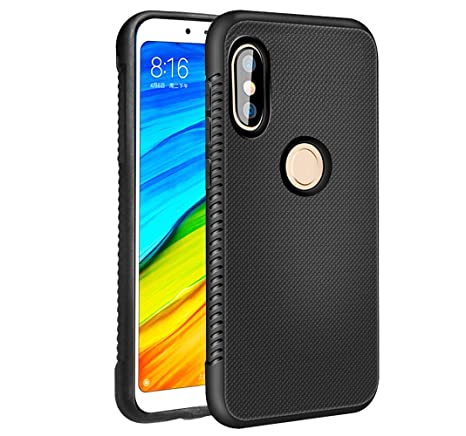 BestAlice for Xiaomi Mi A2 Lite/Redmi 6 Pro Case, Slim Shockproof Matte TPU  Rubber Soft Gel Flexible Anti-Slip Bumper Protective Cover,Black