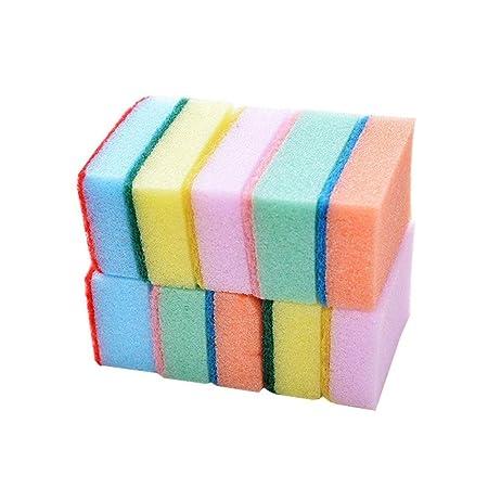 Esponjas de limpieza 10 unids Colorido Nano Limpia ...