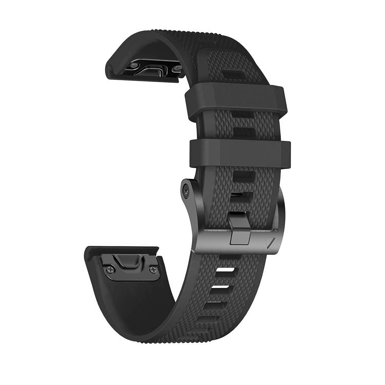 ANCOOL Compatible with Fenix 5 Band Easy Fit 22mm Width Soft Silicone Watch Strap Replacement for Fenix 5/Fenix 5 Plus/Forerunner 935/Approach S60/Quatix 5 - Black by ANCOOL