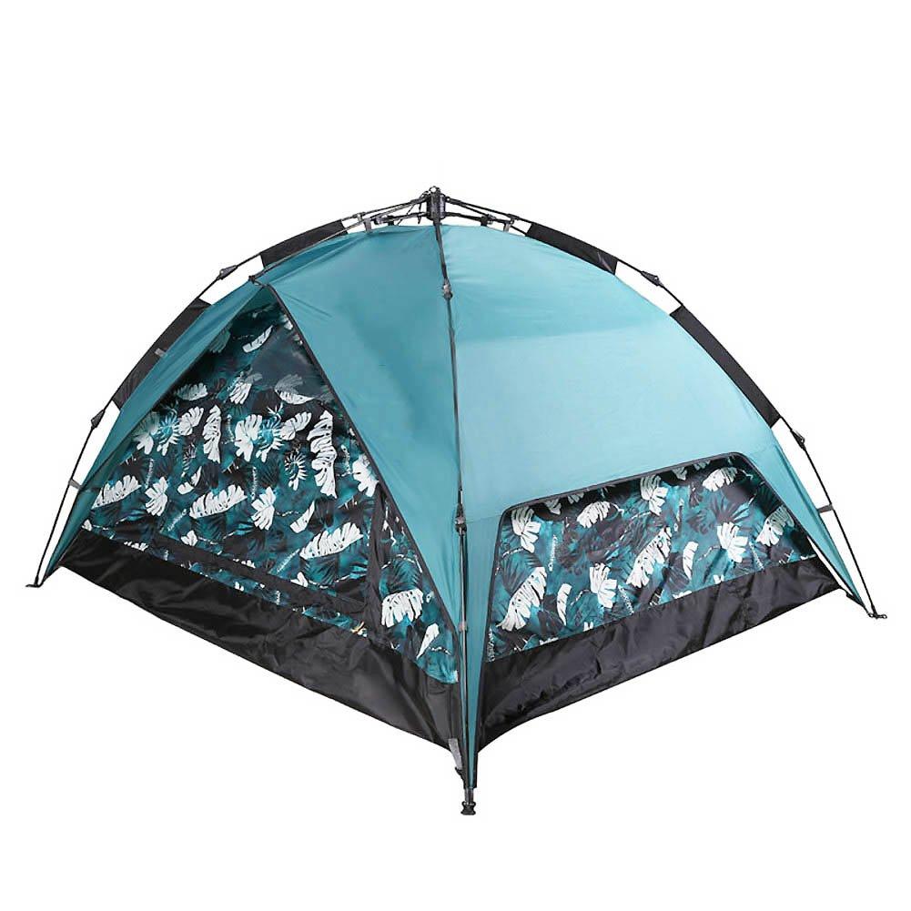アウトドア テント, 3 人 油圧自動オープン テント 屋外 春夏 通風孔の大きな キャリー バッグ ポータブル 家族のテント  A B07CK549YQ