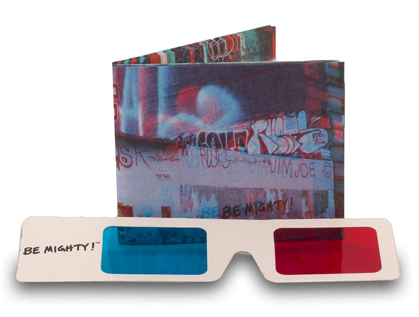 3d graffiti mighty tyvek wallet comes with 3d glasses by dynomighty addject amazon co uk clothing