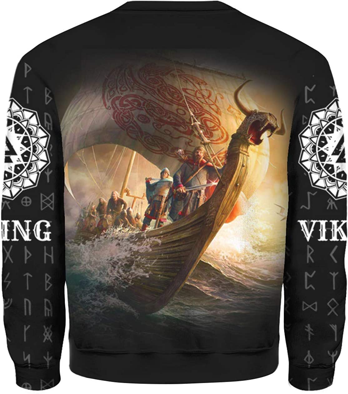 Viking Boat 3D All Over Sublimation Printing Shirt