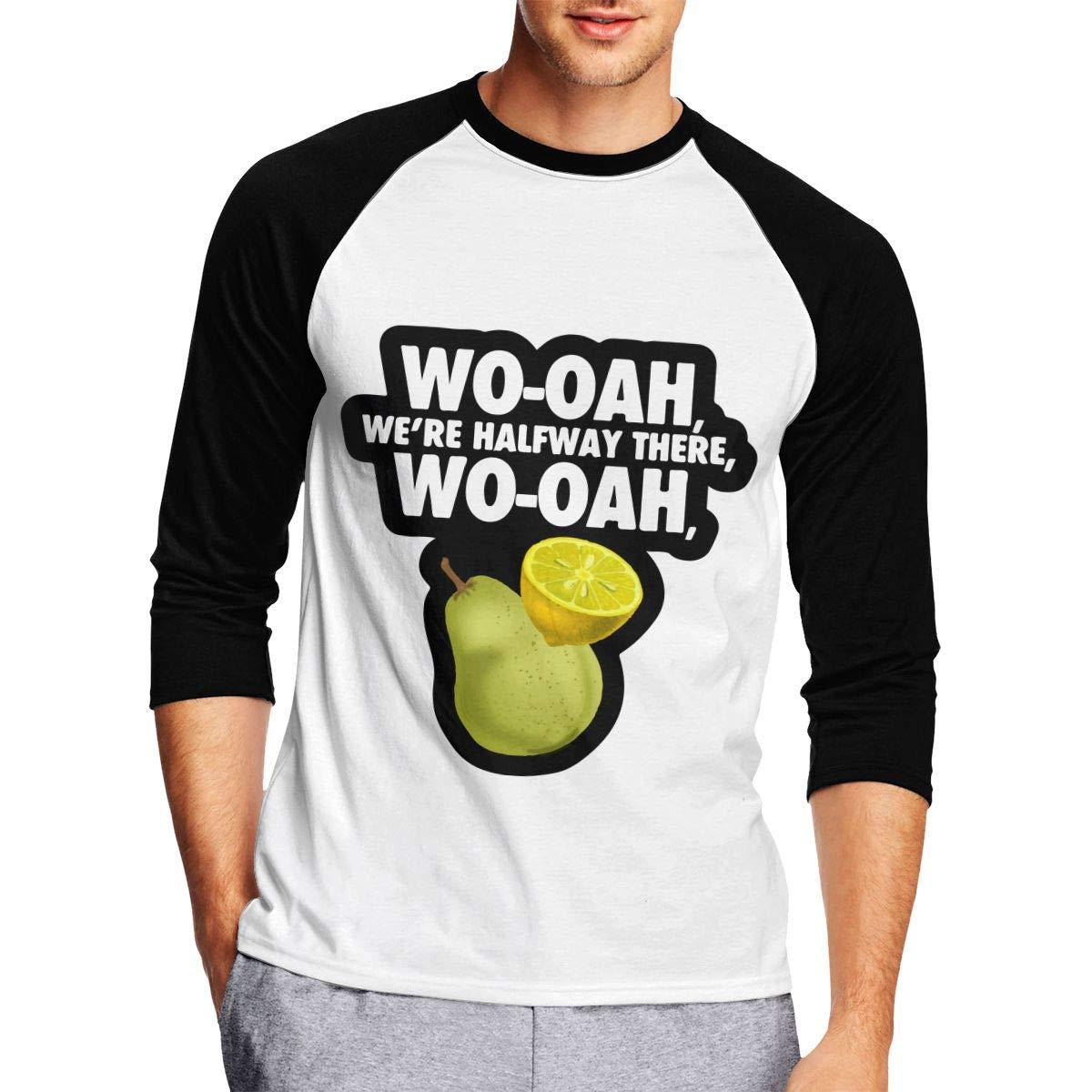 Mens 3//4 Sleeve Tee Shirts Lemon ON A PEAR 1 Raglan Baseball Sports Blouses Tops