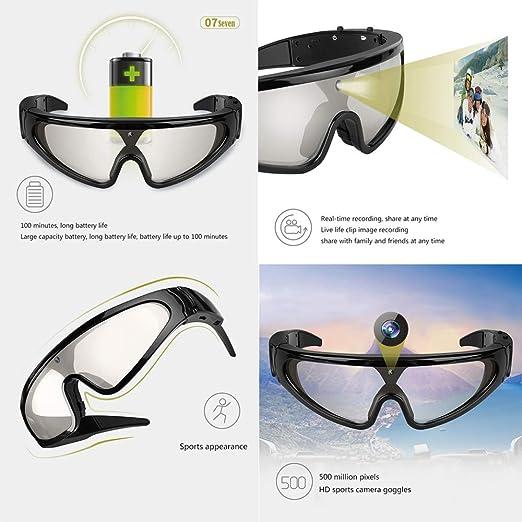 Gafas con cámara deportiva HD de 5 megapíxeles, gafas de sol ...