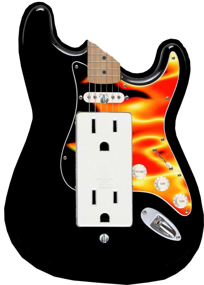 Decora placa de interruptor - llama guitarra eléctrica funda: Amazon.es: Hogar