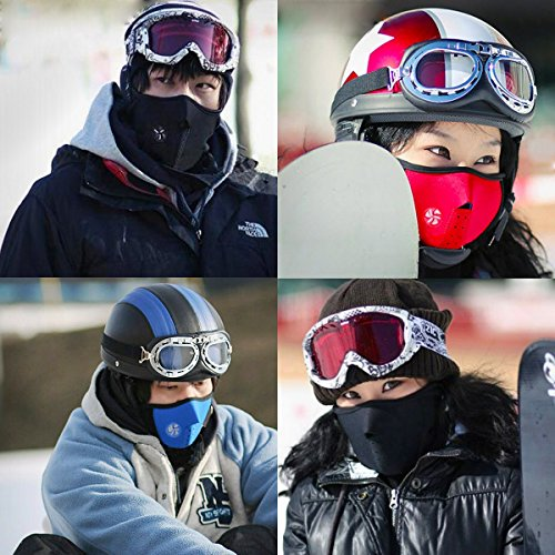 SIHE Windproof dustproof Cold Weather Mouth Masks Half Face Masks for Motorcycles (Blue) by SIHE (Image #1)