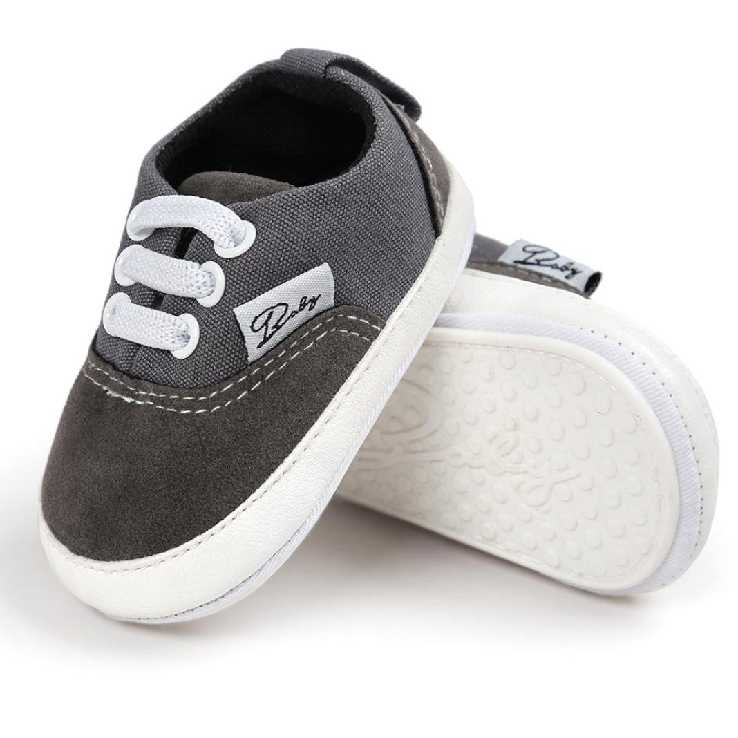 Iuhan Baby Girl Boys Canvas Shoe Casual Shoes Sneaker Anti-slip Soft Sole Toddler