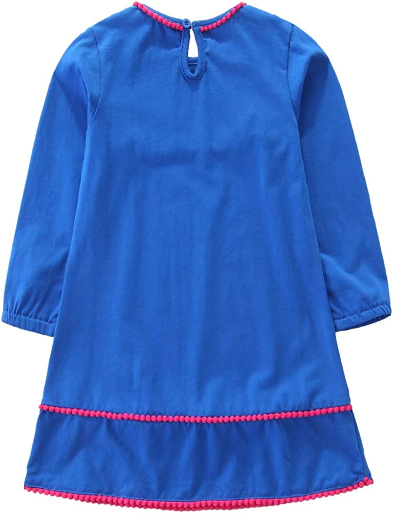 Frogwill Girls Long Sleeve Striped Jersey Casual Dresses Tunics 18M-8Y