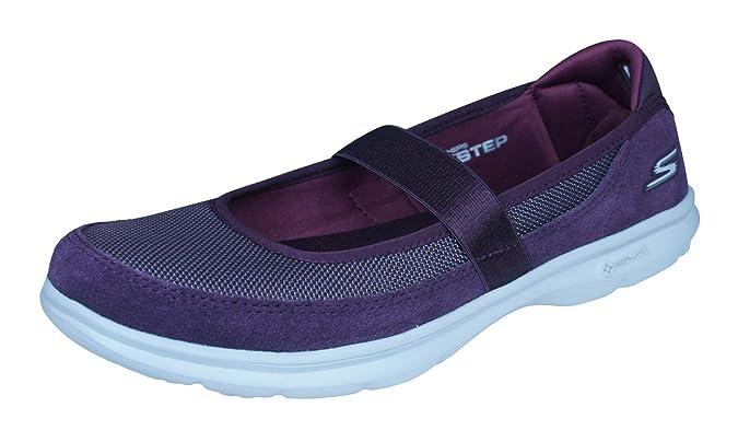 Skechers Go Step Snap Zapatos para Caminar de Las mujeres-Burgundy-37 0xfHZGJ