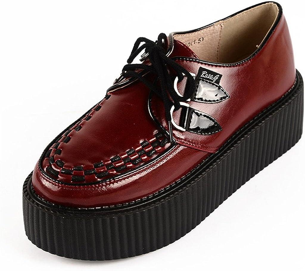 Goth Punk Flats Platform Creeper Shoes