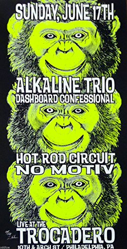 Alkaline Trio Poster w/ Dashboard Confessional 2001 Concert Black