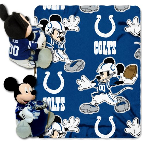 The Northwest Company Officially Licensed NFL Indianapolis Colts Co Disney's Mickey Hugger and Fleece Throw Blanket Set ()