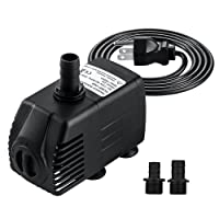 Submersible Pump COCTIONE 400GPH Fountain Water Pump for Aquarium, Fish Tank, Pond, Hydroponics with 4.9ft (1.5M) Power Cord