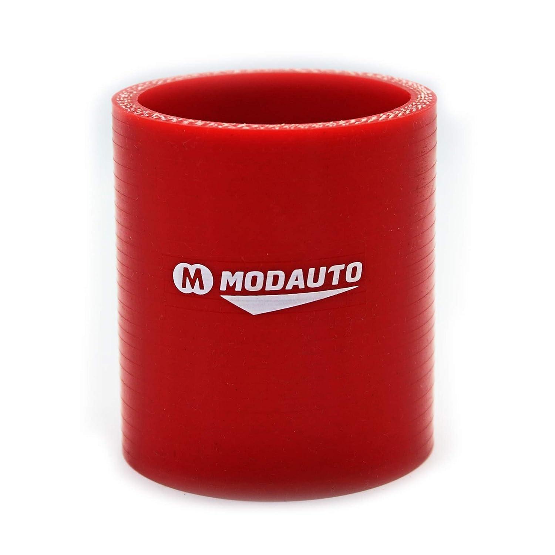 MODAUTO Manguera de Silicona Acoplador Modelo E382J Rojo Alto Rendimiento Diametro 60mm Tubo de Silicona Recto 3//4 capas Universal Longitud 76mm