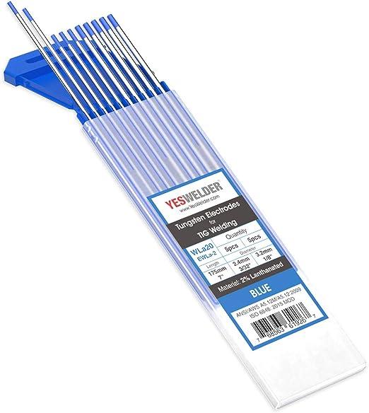 "2/% Lanthanated TIG Welding Tungsten Electrodes 1//8"" Free Quick-Ship Blue,WL20"