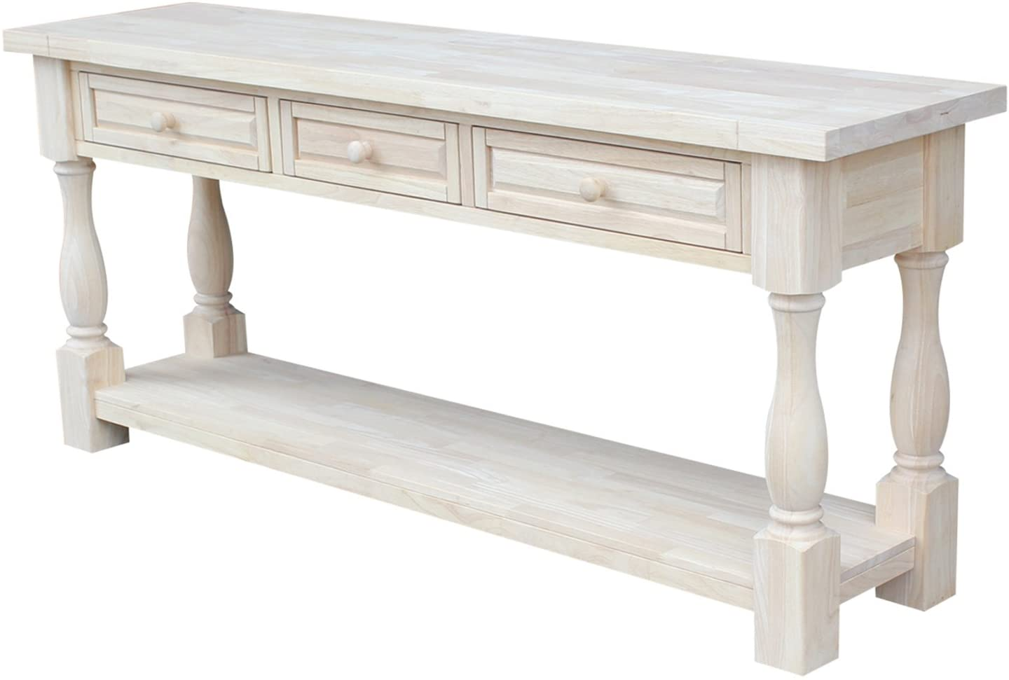 Amazon Com International Concepts Tuscan 65 By 14 Inch Console Table Unfinished Furniture Decor