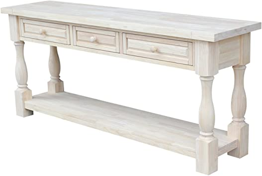 Amazon.com: International Concepts Tuscan Console Table, 65 by 14
