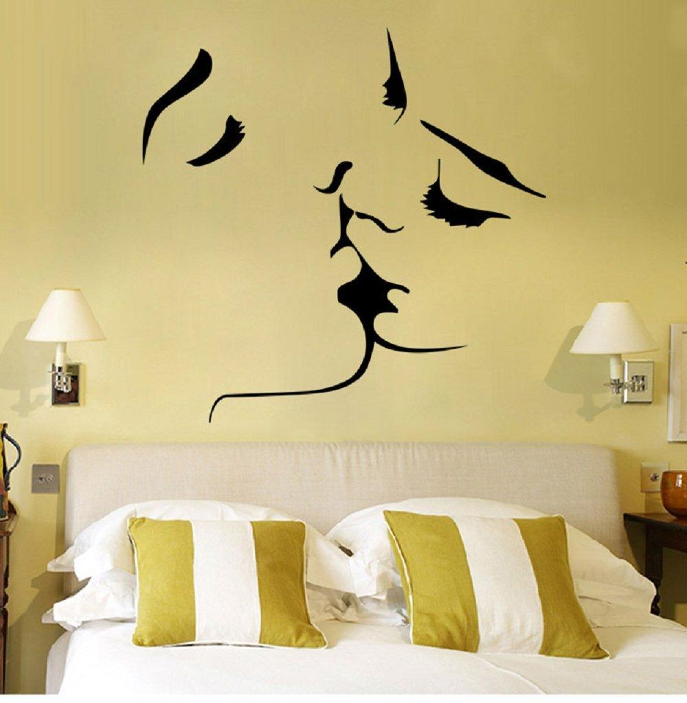 Amazon.com: 1MATCH Kiss Wall Murals for Living Room Bedroom Sofa ...