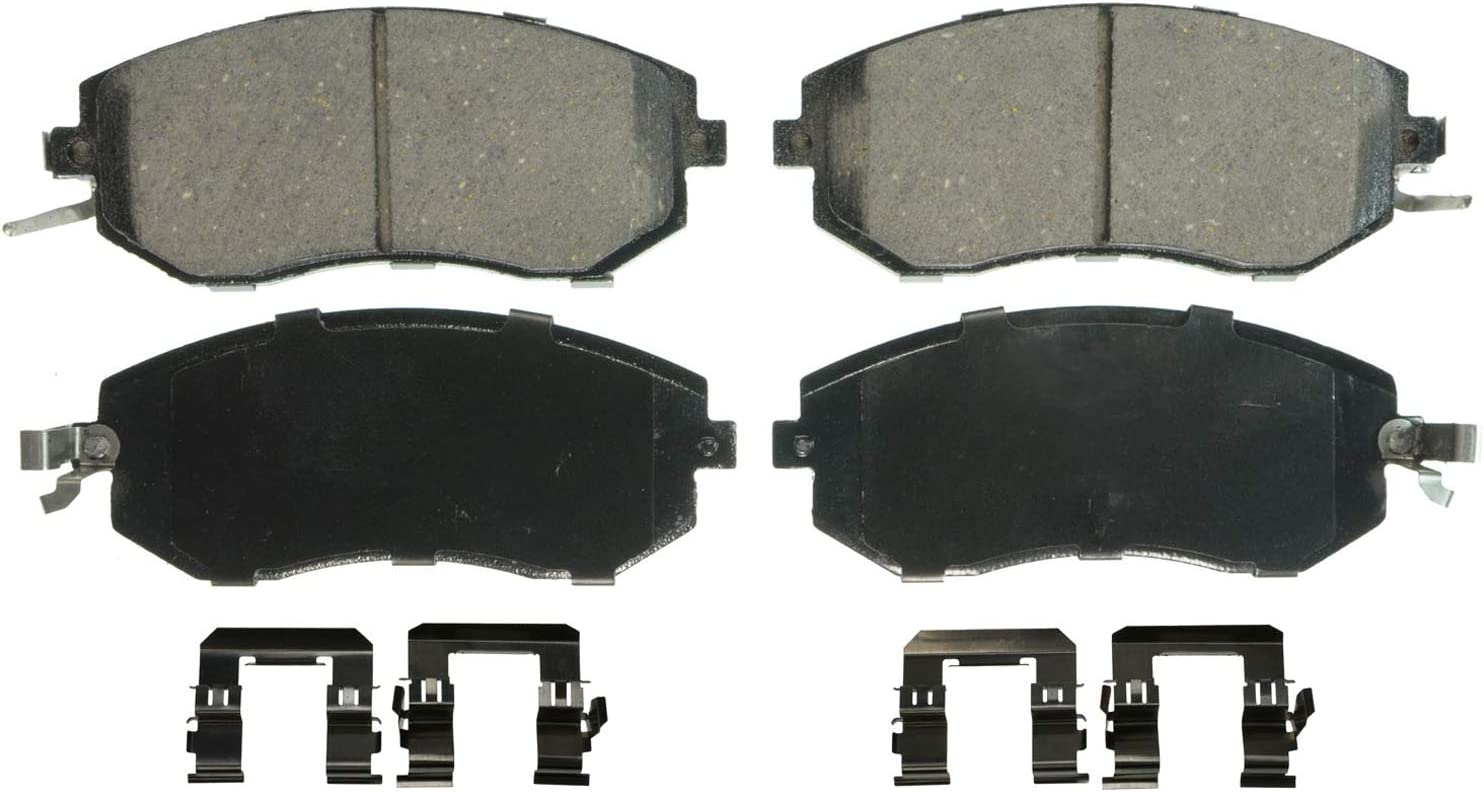 Front Wagner QuickStop ZX699 Semi-Met Disc Pad Set Includes Pad Installation Hardware