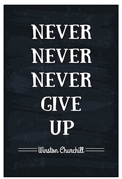 Amazon Never Never Never Give Up Winston Churchill Quote Wall Awesome Quotes Never Give Up