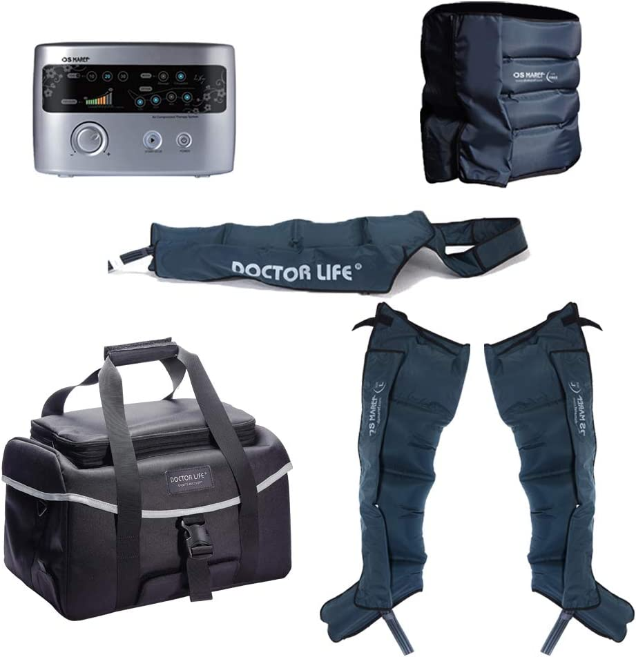 DSMAREF Recovery Compression System Full Package Compression Pump, Recovery Boots, Arm Sleeve, Waist Sleeve, Carry Bag. Boots Size L