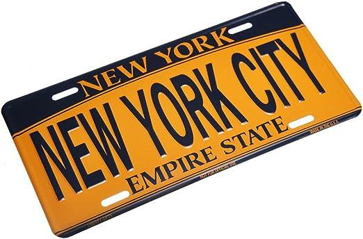 NYC City Decorative Novelty License Plate Tin Sign Heart I Love New York