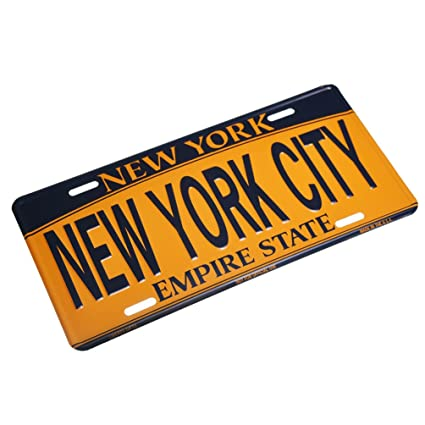 NEW YORK CITY - New York License Plate NY Car Plate NYC Metal Empire Gold Plate  sc 1 st  Amazon.com & Amazon.com: NEW YORK CITY - New York License Plate NY Car Plate NYC ...