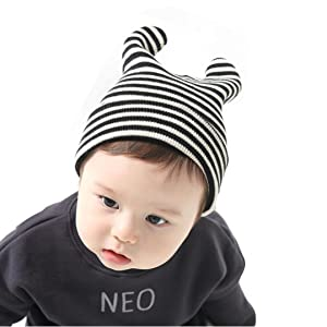 Euone Cute Baby Toddler Kids Boys Girls Stripe Knitted Winter Warm Hat Cap