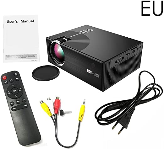 SAWEY Mini proyector 3D HD 1080P, Mini proyector Multimedia ...