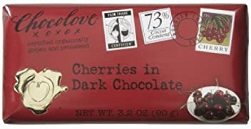 Chocolove Cherries in Dark Chocolate Bar (12x3.2 OZ)