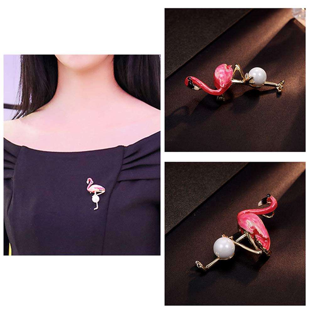 NONOSIZE Fine Fashion Gold-Plated Flamingo Brooch//Necklace for Loved Ones,