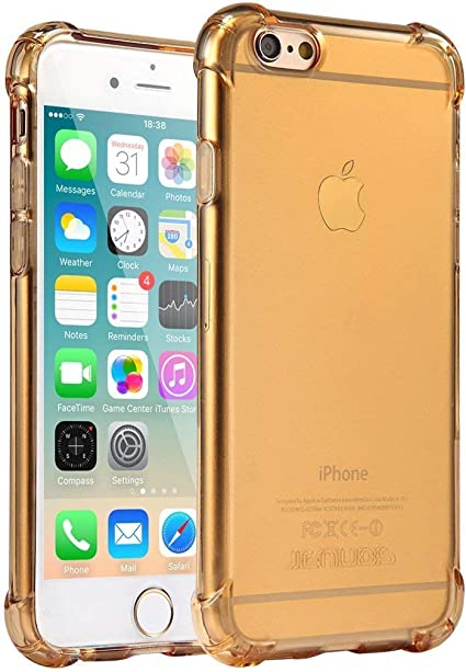 Coque iPhone 6 Plus, Jenuos Transparent Doux Souple Extrêmement Fin Housse TPU Silicone Etui pour iPhone 6 Plus/iPhone 6S Plus 5.5
