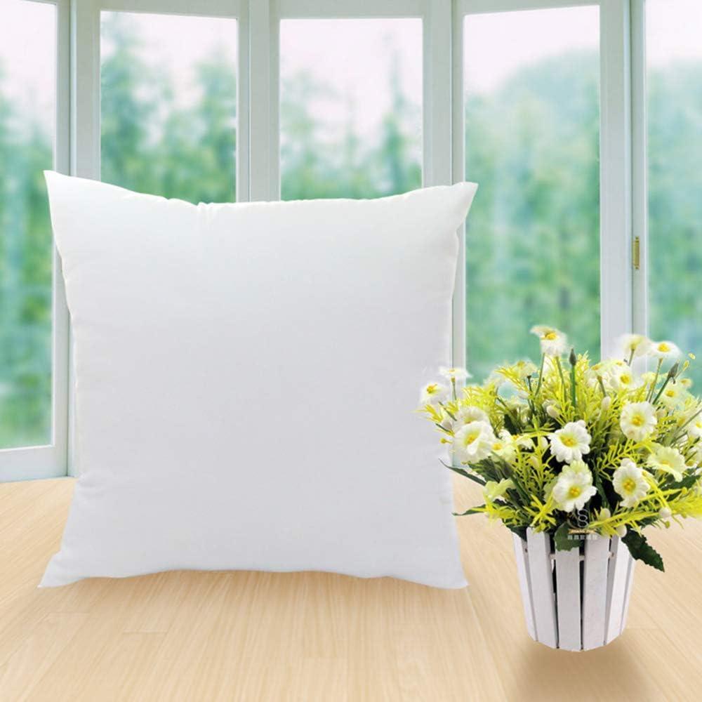 Walmeck Pillow Inserts Pillow Filling Square Cushion Pillow Inserts 18 X 18 Pillow Cushion Core Sofa Bed Pillow White