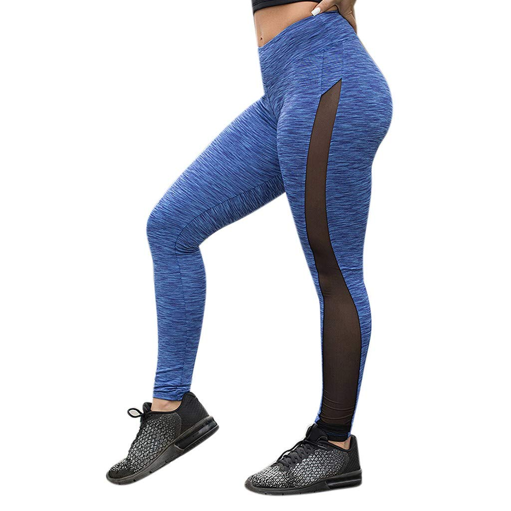 d930d6a5f3845b Women's Mesh Panel Side High Waist Leggings Skinny Workout Yoga Pants  (Black, S): Amazon.com: Grocery & Gourmet Food