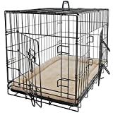 Pet Dog Cat Crate Kennel Cage and Bed Pad Cushion Warm Soft Cozy House Kit...