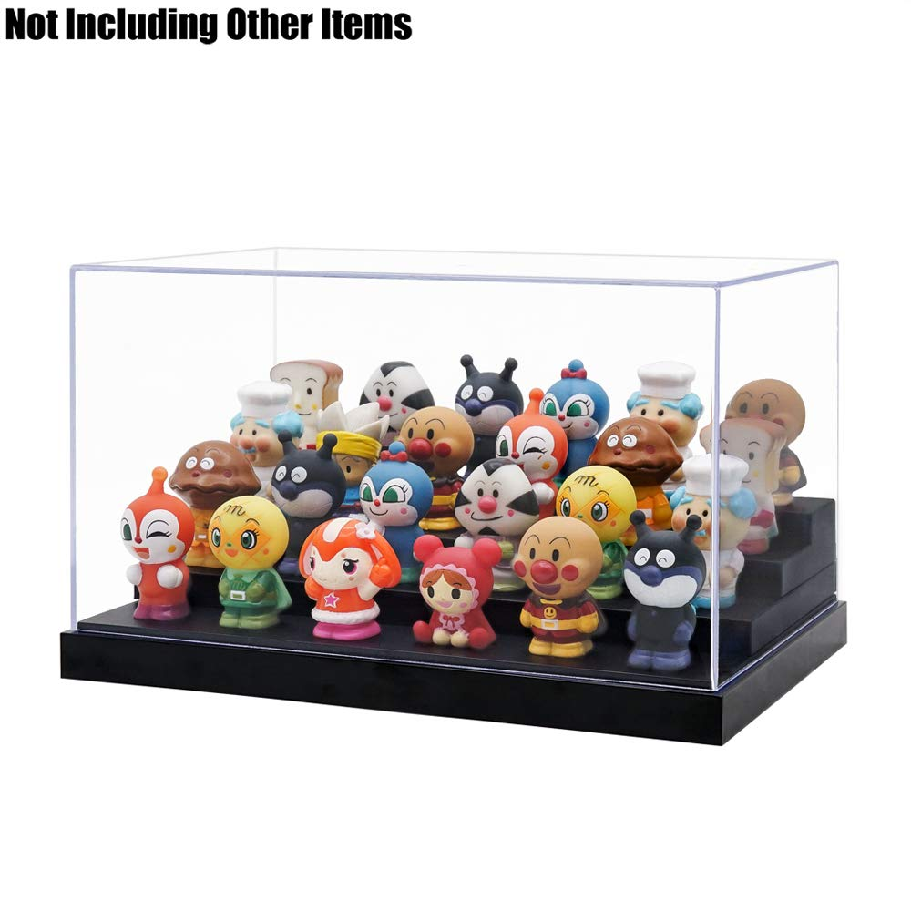 Odoria Clear Acrylic Display Box Case 9.4 Long 4 Step Dustproof for Funko Pop Figure Display