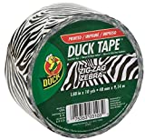 Duck Brand 280110 Printed Duct Tape, Zig-Zag Zebra, 1.88 Inches x 10 Yards, Single Roll