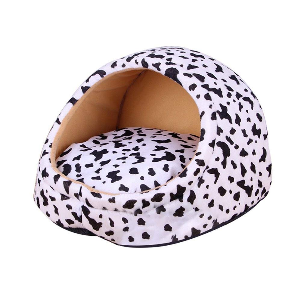 Cow S Cow S Soft and Comfortable Detachable Pet Bed Soft and Warm Dog Bed Room Winter cat Bed Puppy House Dog House Detachable Puppy Cushion pet Dog House Bed (color   Cow, Size   S)